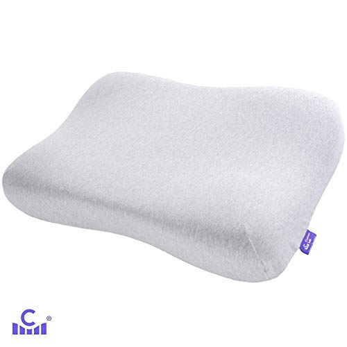 Cushion Lab Gel-Infused Memory Foam Contour Pillow for Back, Stomach, Side Sleepers - Ergonomic Orthopedic Cervical Pillow for Sleeping Neck Pain, Soft Pressure Relieving Neck Support, CertiPUR US