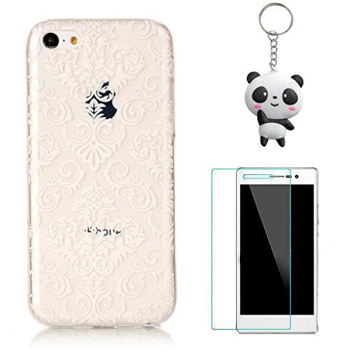 iPhone 5 5S / SE Coque,Motif d'art Premium Gel TPU Souple Silicone Transparent Clair Bumper Protection Housse Arrière Étui Pour Apple iPhone 5 5S / SE + Deux cadeau