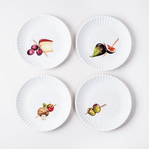Melamine Hors D'Oeuvre Plates set of 4 ()