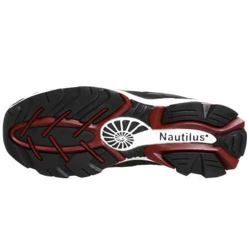 Nautilus 1317 Esd No Metallo Esposto Punta Di Sicurezza Scarpa Sportiva Nero / Argento / Rosso