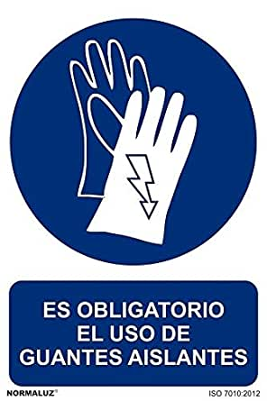 RD21904 - Señal Es Obligatorio El Uso De Guantes Aislantes Aluminio 0,5mm 30x40 cm con CTE, RIPCI Nueva Legislación