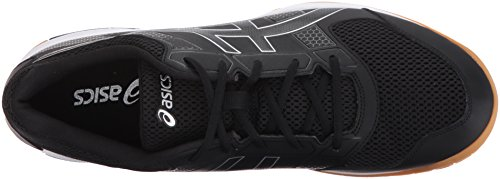 ASICS Mens Gel-Rocket 8 Volleyball Shoe, Black/White, 9 Medium US