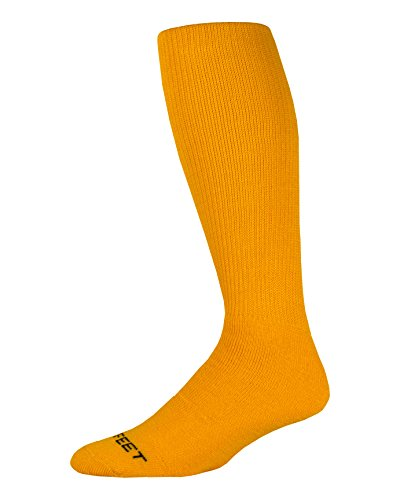 Pro Feet Multi-Sport Cushioned Acrylic Tube Socks, Gold, Medium/Size 9-11 ()