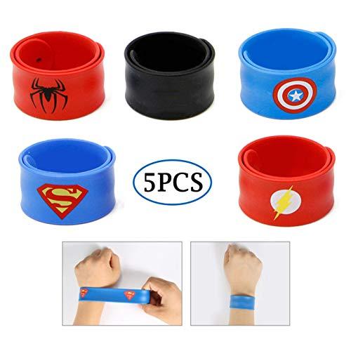 Slap Bracelets for Kids Party Supplies Favors Boy's Wristband Accessories Wrist Strap Gift Supplies (5-Pack) ()