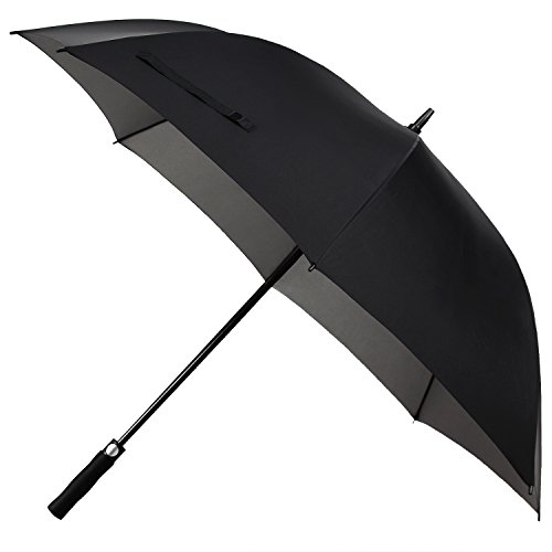 Rainlax Windproof Golf Umbrella 62 inch Oversize Canopy Automatic Open Large Outdoor Rain&Wind Repellent Sun Protection Umbrellas (Black) (Target Rain compare prices)
