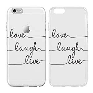Live laugh love iphone case, Inspirational love quotes, Transparent Skin, Scratch Proof Protective Slim Case for iPhone 6 plus 6s plus