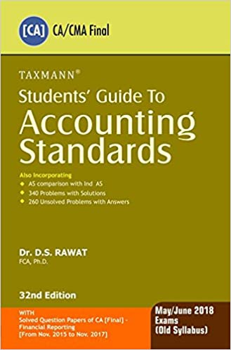 Students' Guide to Accounting Standards (CA/CMA Final) (For May/June 2018 Exams-Old Syllabus)