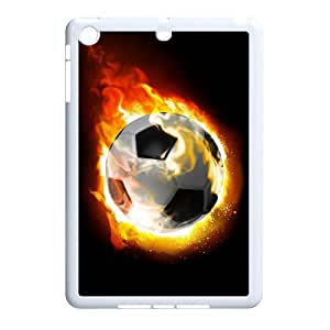 Ipad Mini 2D Customized Phone Back Case with Soccer Fire Ball Image