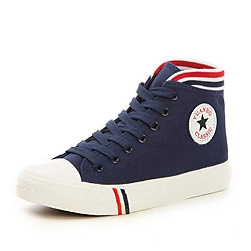 CN40 5 TTSHOES Comoda Sneakers Chiusa Per Blue Blu Nero Primavera Donna EU39 Di Estate 5 Punta Scarpe Rosso Corda Piatto UK6 US8 414qw