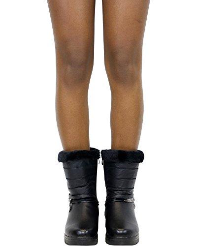 Gnd Fashion Dames Sally Heart Ornament Koude Weerlaars (verkrijgbaar In 2 Kleuren), Zwart, 8