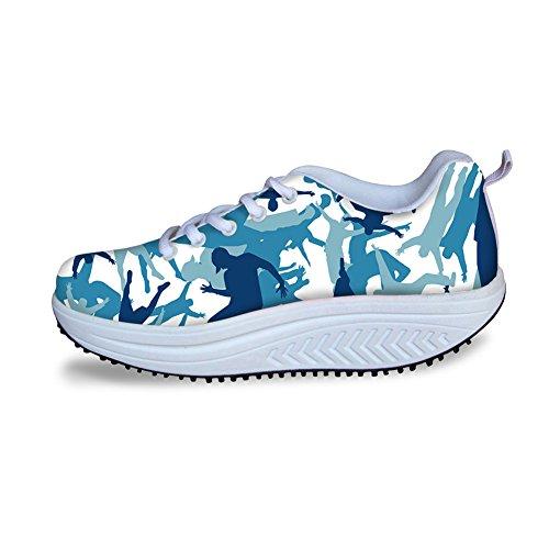 Scarpe Con Zeppa Casual Per Donna Sportiva Sneakers Da Passeggio Camouflage Swing Shape Up Pattern 2