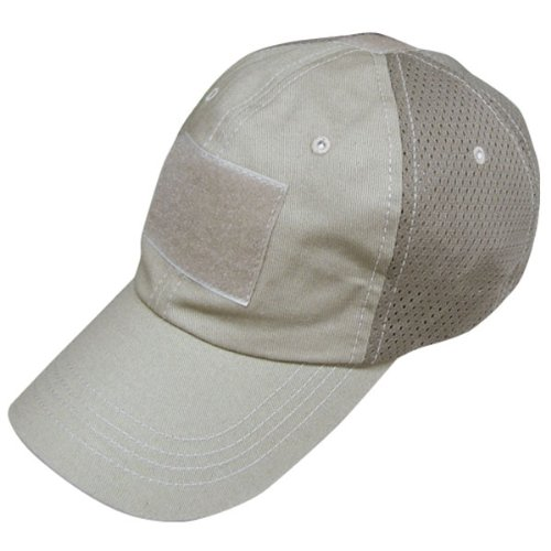 CONDOR Mesh Tactical Cap (Tan, One Size Fits All)