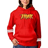 Thrasher Fashion Women's Pullover Hoodie 3D Print Graphic Hooded Casual Sweaters Red M