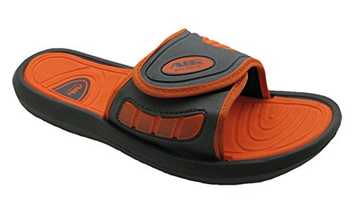 Luft Mäns Bekväma Dusch Strand Sandal Tofflor W / Justerbar Rem I Stilrena Färger Grå / Orange