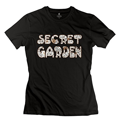 Women's Vintage Tshirts - Secret Garden Black Size L