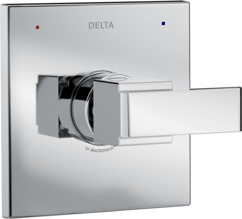 Delta Faucet Ara 14 Series Single-Function Shower Handle Valve Trim Kit, Chrome T14067 (Valve Not - Handle Kit X-square
