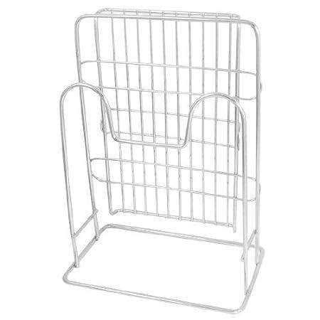 Amazon.com: Cubiertos de metal de corte Junta del estante del sostenedor del soporte del tono de plata: Kitchen & Dining