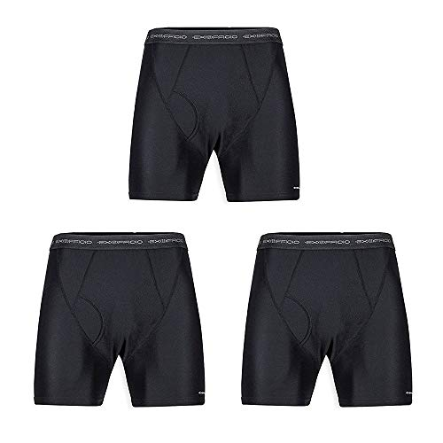 ExOfficio Men's Give-N-Go Boxer Brief 3 Pack, Black, Large (Boxer Briefs Ex Officio)