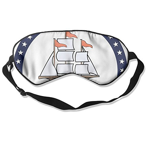 WUGOU Sleep Eye Mask Happy Columbus Day 1492 American Holidays Lightweight Soft Blindfold Adjustable Head Strap Eyeshade Travel Eyepatch]()