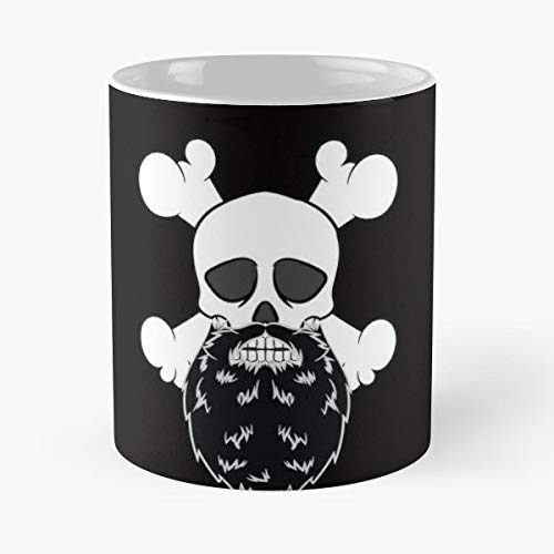 Bearded Scalp Skull Head - Handmade Funny 11oz Mug Best Birthday Gifts For Men Women Friends Work Great Holidays Day Gift]()