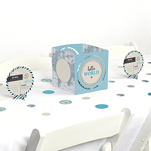 Big Dot of Happiness Precious Cargo - Blue - Baby Shower Centerpiece & Table Decoration Kit by Big Dot of Happiness