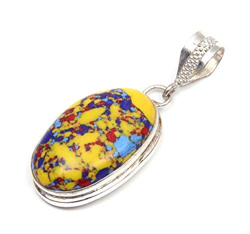 Nimbark Spiritual Jewelry Lovely Gifted Mosaic Jasper Handmade Jewelry Pendant 2''