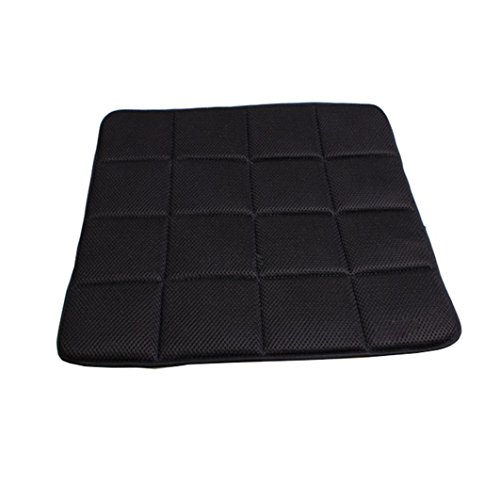 Gillberry Bamboo Charcoal Breathable Seat Cushion Cover Pad Mat for Car Office Chair (Black)