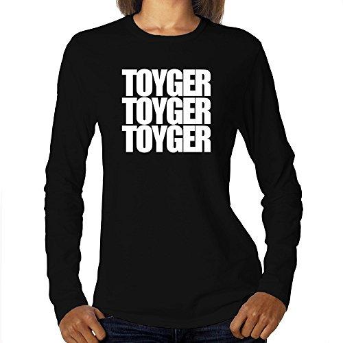 Eddany Toyger Three Words Maglietta a Maniche Lunghe da Donna