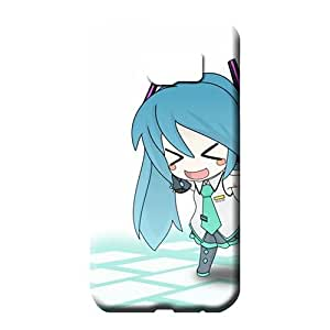 samsung galaxy s6 edge Shock Absorbing Unique Hot Style phone skins hatsune miku chibi anime girls detached sleeves