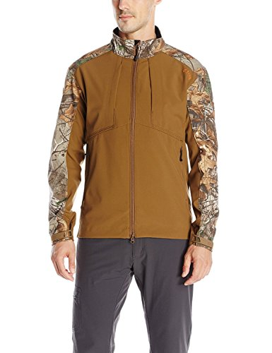 (5.11 Men's Realtree Colorblock Sierra Soft-Shell Jacket, Battle Brown,)