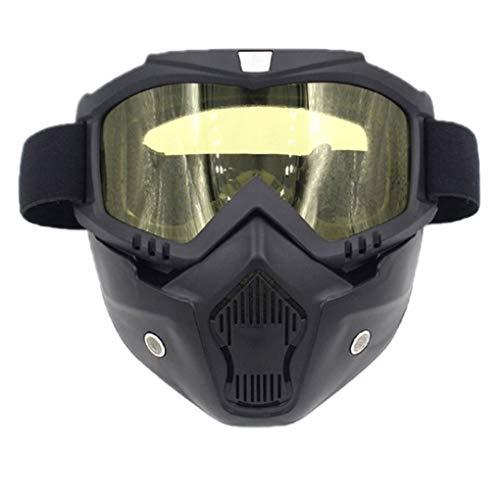 (Zerama Men Women Motorcycle Goggles Helmet Mask Plate Lens Otdoor Riding Glasses Off-Road Mask Windshield)