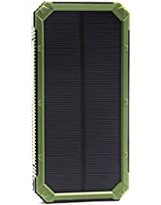 Solar Power Bank 2 Ports, Green