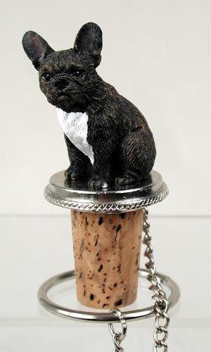 (French Bulldog Dog Wine Bottle Stopper)