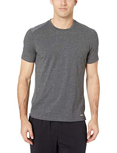 Amazon Essentials Men's Performance Cotton Short-Sleeve T-Shirt, Charcoal Grey Heather, X-Large