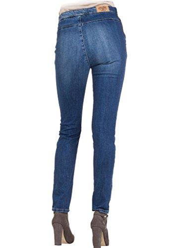 Denim De stone Azul Para Mujer Ceñido Ajuste Estilo Pitillo Lavado Cintura Jeans 701 Wash Tejido 753 Carrera Alta Extensible Medio UawqYx