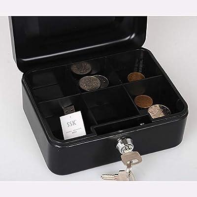 Caja de efectivo Cash Box Cash Box Caja de monedas Construcción robusta portátil Mini caja de dinero de la caja de sellado de la caja con las fuentes de oficina de contabilidad