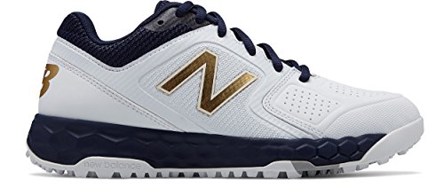 (New Balance Women's Velo V1 Turf Softball Shoe Navy/White 9.5 B US)