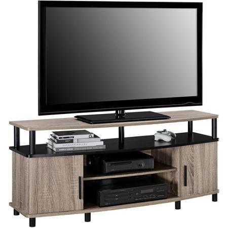 premium tv stand for flat screens wood carson console. Black Bedroom Furniture Sets. Home Design Ideas