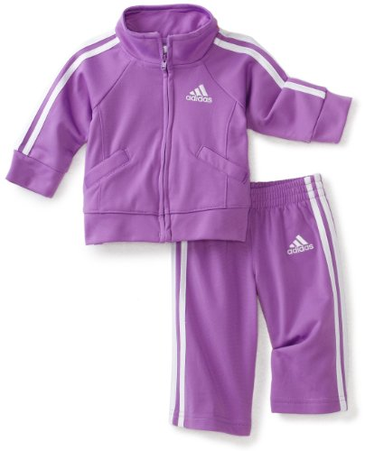 adidas Baby Girls' Iconic Tricot 2 Piece Sweatsuit Set