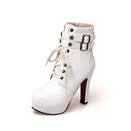 An Andku01846 - Sandales Compensées Pour Femmes, Blanc (blanc), 35