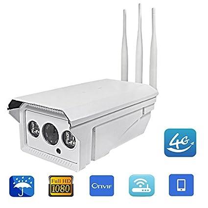 Full HD 1080P 960P 5X Zoom Bullet cámara IP inalámbrica gsm 3G 4G Tarjeta SIM cámara