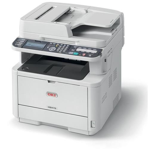 OKI Data MB472W 35ppm Wireless Monochrome Laser Printer with Scanner, Copier and Fax (62444801) from OKI