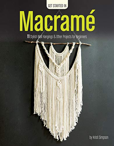 Macrame-11 Stylish Wall Hangings & Other Projects for Beginners (Patterns Weaving Basket Paper)