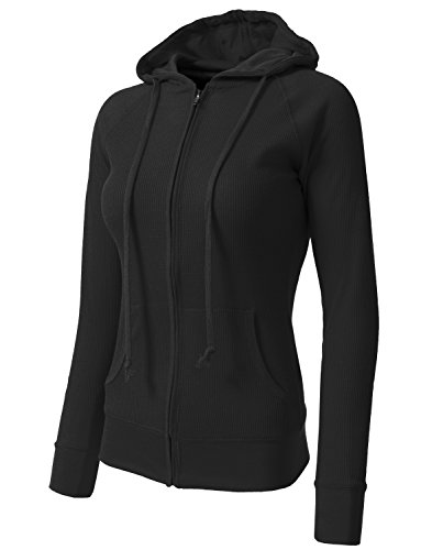 NE PEOPLE Women Casual Light Weight Thermal/Plain Hoodie S 3XL