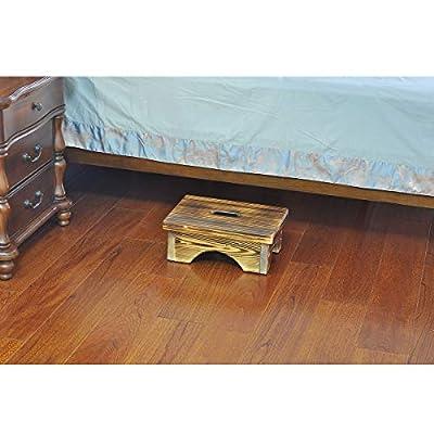 ECROCY Wooden Bedside Step Stool Indoor & Outdoor Mobility Step Stool - 16.5 Inches x 11.8 Inches x 6.1 Inches: Kitchen & Dining