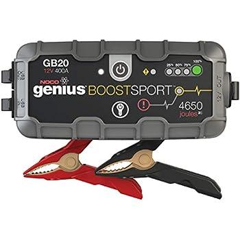 NOCO Boost Sport GB20 400 Amp 12-Volt UltraSafe Portable Lithium Car Battery Jump Starter Pack for Up to 4-Liter Gasoline Engines