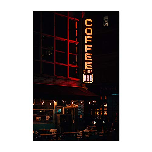 (Noir Gallery Coffee Shop Bar Vintage Sign NYC 12