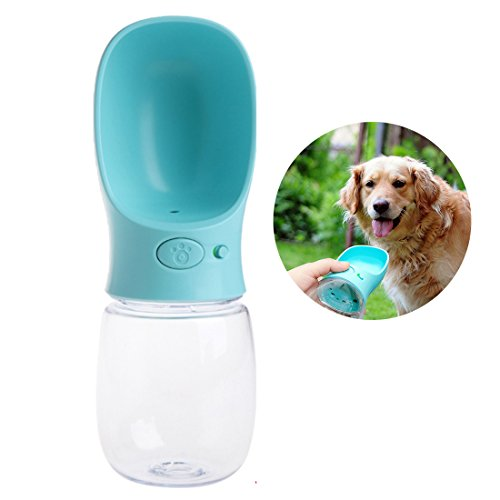 Izaway Portable Pet Dog Water Bottle 350ML Outdoor Travel Dog Pets Drinking Water Dispenser for Small Medium Large Dogs, Cats (Blue) by Izaway