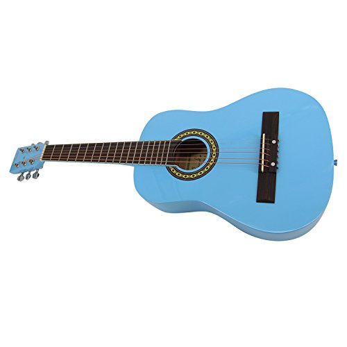 Bailando 30 Inch Starter Acoustic Beginner Guitar with Carrying Bag & Accessories, Blue - Image 6
