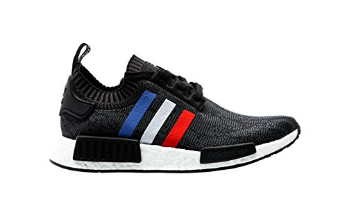 Adidas Originals NMD_R1 PK Mens Running Trainers Sneakers Shoes Prime Knit (42/5, Core Black-Core Red-Ftw White BB2887)
